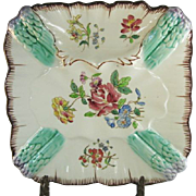 SALE Longchamp French Majolica Asparagus Plate