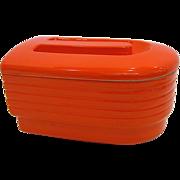 Hall China for Westinghouse Orange Refrigerator/Leftover Dish