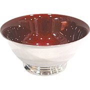 Reed & Barton Silver Plate & Red Enamel Revere Bowl
