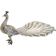 SOLD Sterling Silver Peacock Theodore Starr New York