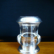 Frank Whiting Sterling Silver & Glass Toothpick Holder