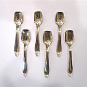 Set of 6 Sterling Silver Salt Spoons