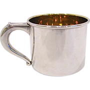 Web Sterling Silver Baby Cup Monogrammed Scott