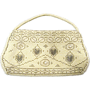 Vintage Art Deco Czech Beaded Wrist Evening Bag