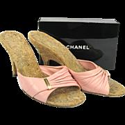 Vintage Chanel Shoes - Pink Slides, Mules Size 37