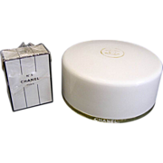 Sealed Vintage Chanel No 5 Perfume + Dusting Powder