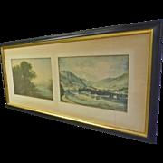 Double Print of River Scene