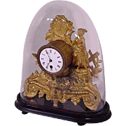 French Gilt Figural Clock