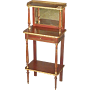 Mahogany French Stand with Brass Mounts