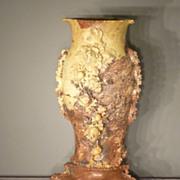 Huge Soapstone Carved Vase, Asian