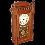 SOLD Walnut Eastlake Mantle Clock by Waterbury