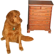Miniature Chippendale Chest, Jewelry Chest