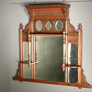SOLD Wall Mirror with Shelves