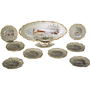 French Limoges Fish Set