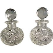 Pair of Cut Glass Perfume Bottles