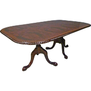 Mahogany Rectangular Dining Table with 2 Leaves