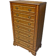 Faux Bamboo Tall Chest of Drawers