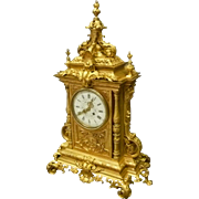 Gilded Bronze French Clock