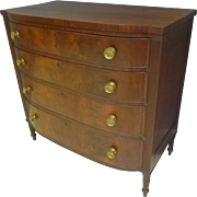 Mahogany Sheraton Chest of Drawers