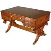Mahogany Inlaid Partners Desk