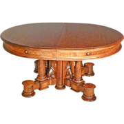 Great Oval Victorian Dining Table