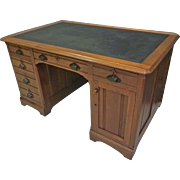 Walnut Victorian Flat Top Desk