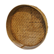 French Sieve or Riddle with Herringbone Weave Center