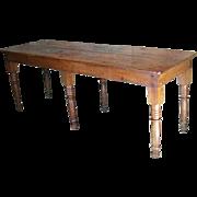 C. 19th c. Primitive Dark Pine Work Table or Sideboard
