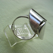 "Vintage Sterling ""Alton"" Swedish Modernist Ring Signed ""KE PALMBERG"""