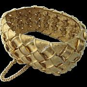 Vintage Boucher Gold Plated Bracelet