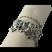 SALE PENDING Antique Sterling Art Nouveau Figural Bracelet By William Kerr ,Newark , New Jerse