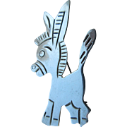 "Vintage Sterling ""Martinez"" Tasco Mexican Whimsical Donkey Brooch"