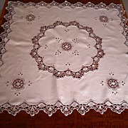 SOLD Antique Cluny Lace Tea Cloth