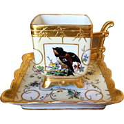Fischer and Mieg Square Handpainted Demitasse