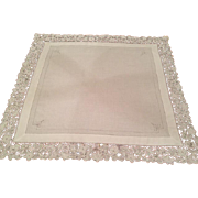 Antique Italian Needle Lace Tea cloth