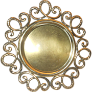 REDUCED Photo frame - Art Nouveau brass round shape