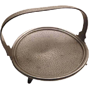 Arts & Crafts Pewter Serving tray - round with handle