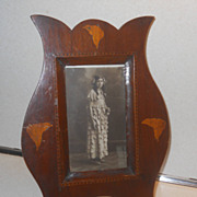 Art Nouveau Wood inlaid photo Frame