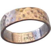 REDUCED Sterling Silver Band Ring Size 10-1/4, Simple Elegance!