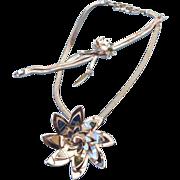 REDUCED Monet 1960s Silvertone Set, Bracelet & Necklace, Excellent!