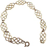 REDUCED Gold Vermeil Lacey Station Bracelet, 925!