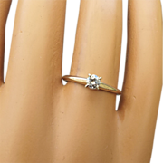 SALE Solitaire Brilliant Diamond Ring 14k Yellow Gold Setting, .20 carat Stone!