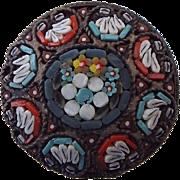 REDUCED 1900s Italian Micro Mosaic Brooch, Marked Italy!