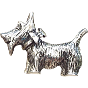 SALE Adorable Sterling Scotty Dog Figural Pin, 1970s - 80s!