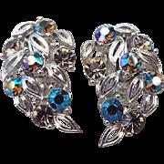 SALE Signed LISNER Rhinestone Earrings, Excellent Vintage!