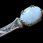 SALE 13.27 Carat Natural Opal Gemstone Victorian Kilt Pin, Extraordinary Antique Treasure!