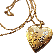 SALE Mid Century 14k Gold Filled Heart Pendant Necklace, A Classic Treasure!