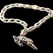 "SALE Navy Ram ""Bill the Goat"" Mascot Sterling Charm Bracelet, Army Navy Rivalry Goes"