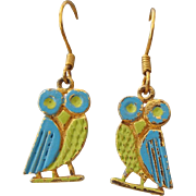 SALE Cute Vintage OWL Pierced Earrings!