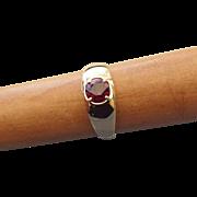 SALE PENDING Elegant 10k Yellow Gold and Garnet Gemstone Ring, Size 9!
